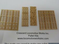 Crescent locomotive Works laser cut pallet kit, makes 12 wood pallets 1/48 scale