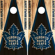 Toronto Maple Leafs Cornhole Wrap NHL Game Board Skin Set Vinyl Decal Art CO323