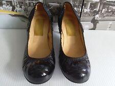 Sexy LANVIN Pumps Black Patent Leather  EU 37  US 7   Retail $565