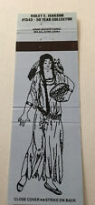 Matchbook Cover Matchcover Woman With Basket Collector Violet Isakson Blue