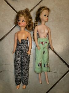 Ideal Toy Corp Doll Vintage lot of two 11.5in barbie 1960's collectible hg5