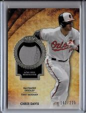 Chris Davis # 142/225 Patch Card 2017 Topps Tier One