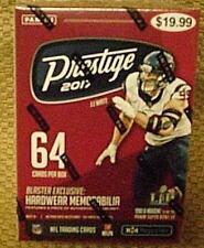 2017 PANINI PRESTIGE*f/s BOX*L@@K for #'d AUTHENTIC  NFL HARDWARE MEMORABILIA*