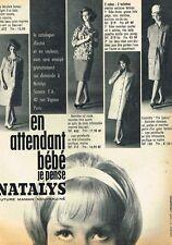 E- Publicité Advertising 1962 Les vetements de grossesse Natalys par Guegan