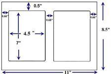 1000 Round Corner Shipping Labels For Laser Printers 2 Per Sheet 85 X 11 Ebay