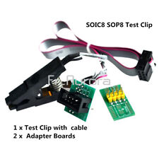 SOIC8 SOP8 Test Clip For EEPROM 93/25 /24Cx in-Circuit Programming + 2 Adapters