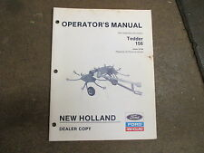 New Holland 156 hay tedder owners & maintenance manual
