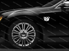 2 x Chrysler 300C HEMI Aufkleber für Flügel Emblem Logo Decals #1