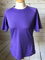 REI womens  large active shirt top purple running athletic stretch short sleeve