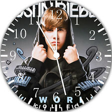 Young Justin Bieber Frameless Borderless Wall Clock Nice For Gifts or Decor Y81