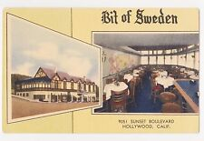 Hollywood,California,Bit of Sweden,Restaurant,2 Views,Sunset Blvd.c.1940s