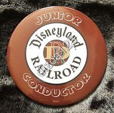 Disney Button Junior Conductor Disneyland Railroad Button