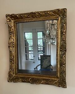 Mid 18th Century French Gilt and Gesso on Wood Wall Mirror