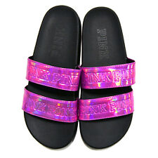 a9dfe7550f22b2 Victorias Secret Pink Metallic Double Strap Slides Flip Flops Sandals  Medium 7 8