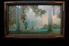 Original MAXFIELD PARRISH LITHO DAYBREAK in Original FRAME House of Art N.Y.