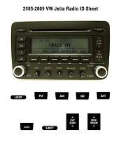 2005-2009 VW Jetta Radio ID - Refinishing Product