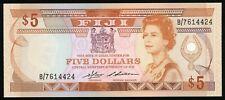 🔸FIJI 5 DOLLARS 1986 P-83 aUNC (C-034)A🔸