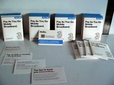 Three (3) Official Pay as You Go 3g Nano SIM Card for iPhone 5