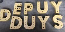 LARGE GOLD METAL 3D SHOP LETTERS
