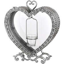 Vintage Shabby Chic Metal Heart Decoration Wedding Christmas 3pk