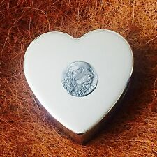 Silver Plated Trinket Pill Jewellery Box with Antique Pewter Cocker Spaniel Dog