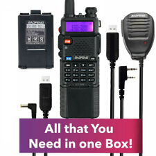 Extended Kit Baofeng Radio UV-5R MK4 8W MP with 3800 mAh Battery,Speak Mic,Cable