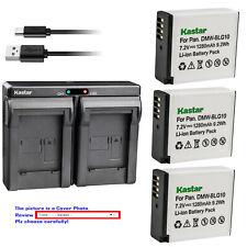 Kastar Battery Dual USB Charger for DMW-BLG10 DMW-BLG10E Panasonic Lumix DMC-GX7