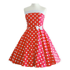 50er Rockabilly Con Allacciatura Al Collo Abito Sottoveste PIN UP PARTY COTONE L/XL 103-55