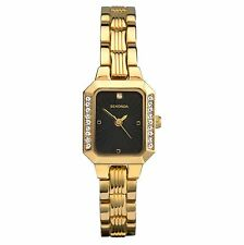 Gold Plated Strap Luxury Round Watches with 12-Hour Dial