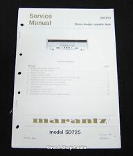 Original Marantz SD725 Stereo Double Cassette Deck Service Manual