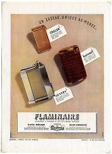 Publicité ancienne des années 40 FLAMINAIRE / briquet Quercia / 27x37 cm / FN55