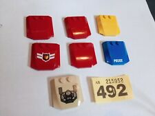7X LEGO Car Bonnet Plate 4X4X2/3 45677 BUNDLE CITY CREATOR RED YELLOW BLUE #492