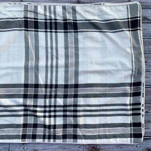 Woolrich White Black Plaid Pillow Sham Set