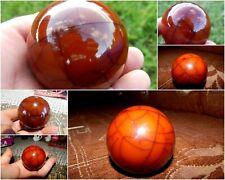 Vintage Bakelite Amber Ball Block Piece Catalin Natural Cracks 170 grams 40's