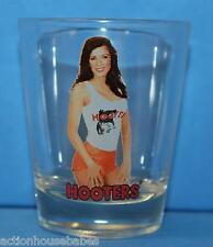 HOOTERS GIRL - SHOT GLASS - 25th Anniversary - Restaurant Waitress - BRUNETTE #4