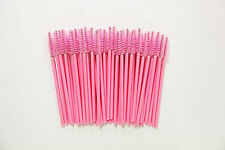 200 Pack Disposable Mascara Wands Eyelash Brushes Handy Easy to Carry Light Pink