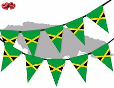 Jamaica Full Flag Patriotic Themed Bunting Banner 15 Triangle flags