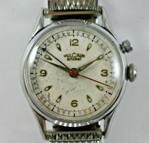 Vintage Vulcain Cricket Grand Prix Manual Wind 17J Wrist Alarm Watch lot.x