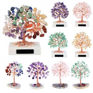 Gemstone Tree Crystal Feng Shui Ornament Healing Stone Money Tree Home Decor