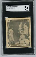 1948 Swell Sport Thrills TED WILLIAMS #16 Baseball Card Graded SGC 3 VG