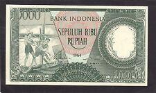 Indonesia 10.000 Rupiah 1964 P-100   AU/UNC