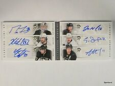 11-12 Contenders Starting Lineup Penguins Malkin Staal Fleury auto #21/50 *43505