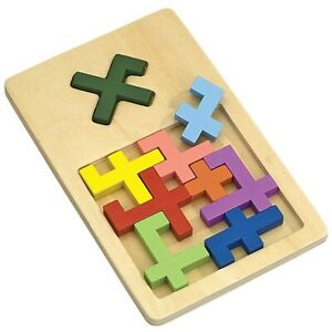 Bits and Pieces - X Marks The Spot Tray Puzzle Table Game - Wooden Brain Teas...