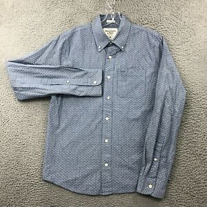 Abercrombie & Fitch Shirt Mens Medium M Muscle Button Down Collared Solid Blue