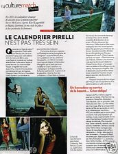 Clipping press clipping 2012 (1 page) pirelli calendars