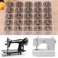25Pcs 20mm Universal Sewing Machine Metal Bobbins Spool w/ Storage Box~ New Seja
