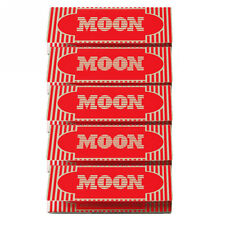 "5×40 sheets 77mm 1.25"" Moon Red Wood Pulp Cigarette Tobacco Rolling Papers"
