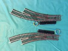 1 Pair of Maerklin H0 -2268- Curved Turnouts, electric with drive.