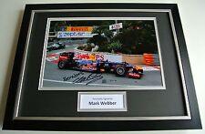Mark Webber SIGNED FRAMED Photo Autograph 16x12 display Formula 1 Racing & COA