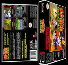 Spike Mcfang - SNES Reproduction Art Case/Box No Game.